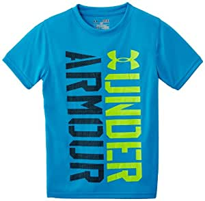 Under Armour Show Me Sweat T-Shirt manches courtes Garçon Pirate Blue/High-Vis Yellow FR : 10 ans (Taille Fabricant : YSM)