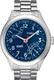 Timex Intelligent Quartz Men's Perpetual Calendar Watch with Blue Dial Analogue Display and Silver Stainless Steel - T2N507