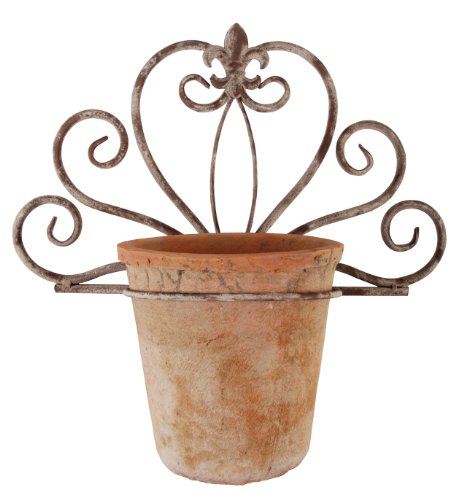 Esschert Design USA AM50 Aged Metal Single Wall Pot Holder