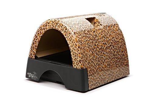 Kitty A Go Go Designer Cat Litter Box - Leopard Print
