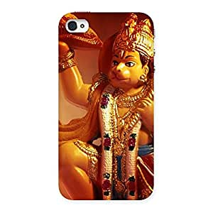 Special Lord Hanuman Multicolor Back Case Cover for iPhone 4 4s