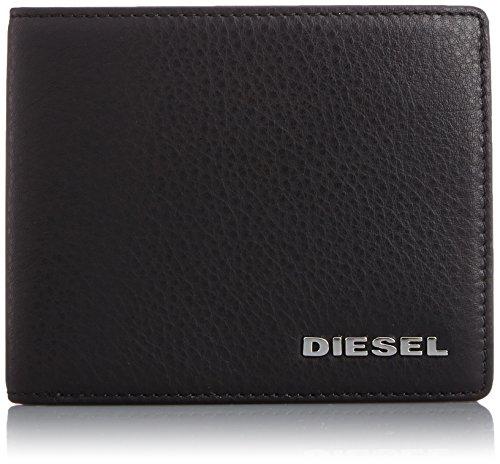 Diesel HIRESH portafoglio e portamonete, uomo, pelle (Nero)