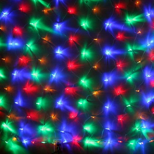 24V 6.6*3.3 Sq Feet 96 Multi Color Led Christmas Wedding Party Net Lights