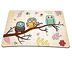 Kbsing Mouse Pad Anti-Slip 8.5 x 7 Inch Owl Mice Mat for Optical Laser Wireless Mouse