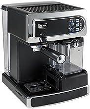 BEEM Germany i-Joy Café Ultimate, Espresso-Siebträgermaschine mit 20 bar mit integriertem Milchaufschäumer, chrom-schwarz