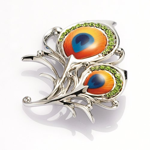 Franz Collection Proud Peacock Pin