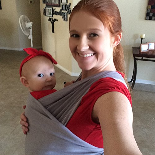 Purchase Grey Baby Sling Carrier, Ultrasoft and Safe, 95% Cotton & 5% Spandex