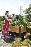 "Gardener's Supply 2 Ft x 8 Ft Raised Garden Bed Elevated Cedar Planter Box Standing Garden (24"" x 96"")"