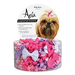 Aria Bella Dog Bows Canister 70 Pcs