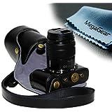 MegaGear Kameratasche für Panasonic GF6 Kameras mit 14-42mm VR Objektiv (Schwarz)