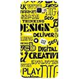 For Samsung Galaxy On Nxt Word Pattern ( Word Pattern, Design, Thinking, Good Quotes, Yellow Background ) Printed Designer Back Case Cover By FashionCops