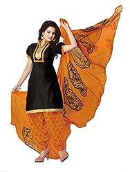 Fashion Storey Fancy Black Cotton Dress Material