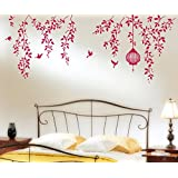 StickersKart Wall Stickers Border Design Bedroom Hanging Vines With Cage And Birds Staircase Design In Lovely...