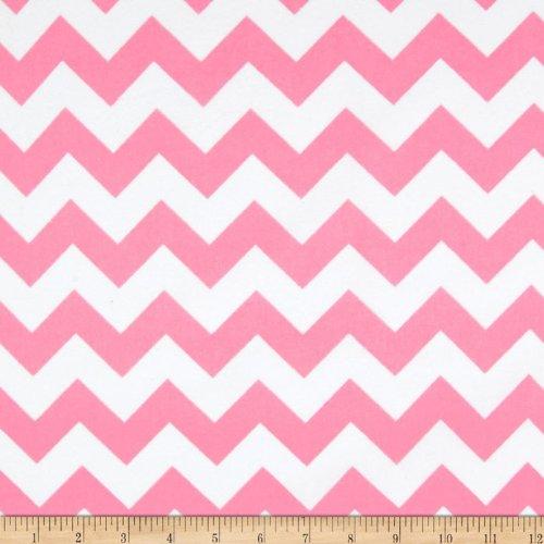 Riley Blake Flannel Basics Chevron Medium Baby Pink Fabric front-1076527