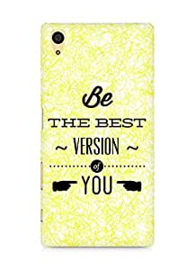 Amez Be the Best version of Yourself Back Cover For Sony Xperia Z5