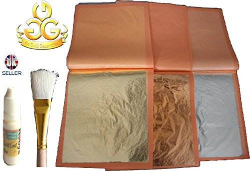 large-imitation-mix-gold-silver-copper-leaf-sheets-140mmx140mm-craft-book-of-75-sheets-and-gold-leaf