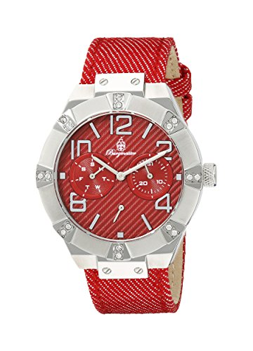Burgmeister Women's Quartz Watch with Red Dial Analogue Display and Red Fabric Bangle BM611-144
