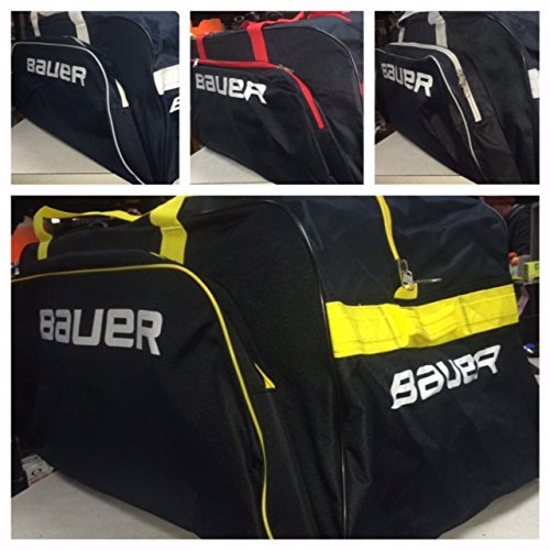 Bauer S14 Core Wheel Bag, Black/Red, Large (Wheeled Hockey Bag compare prices)