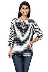 Boxy Stripe Shirt(White,M)
