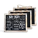 Cade Vintage Framed Kitchen Chalkboard - Decorative Chalk Board for Rustic Wedding Signs, Kitchen Pantry & Wall Decor (3packs, 9.5*12in)