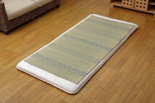 純国産 い草のシーツ(寝ござ) 『球磨川』 ブルー シングル約88×180cm 6507109