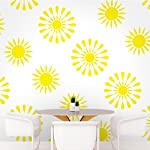 DeStudio Floral Tile Chalkboard Wall Decal, Size SMALL & Color : YELLOW