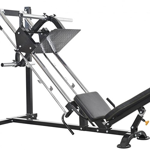 Powertec Leg-press misura, 195 x 144 x 103 cm, colore: nero