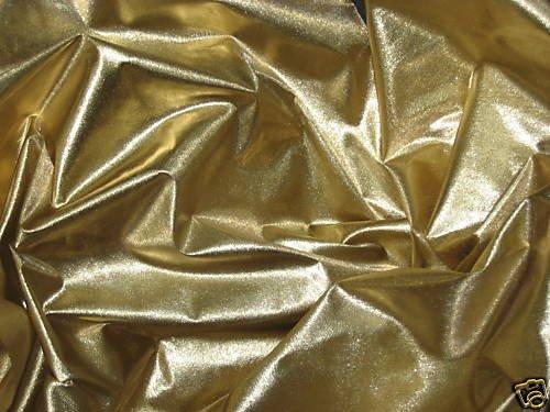 GOLD METALLIC TISSUE LAME FABRIC 45