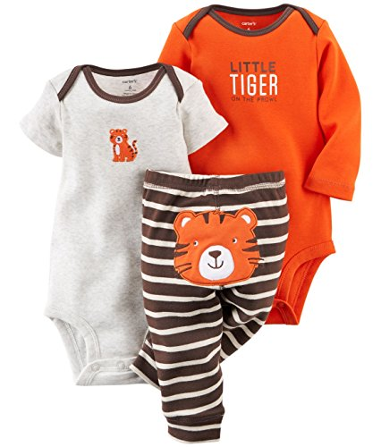 Carter's Baby Boys' 3 Piece Take Me Away Set (9 Months, Tiger)
