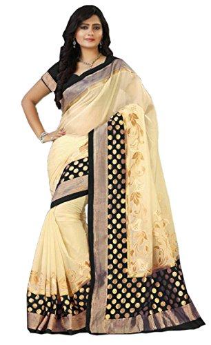 AA' Kuons Avenue Black Polka Bangalore Silk Sari