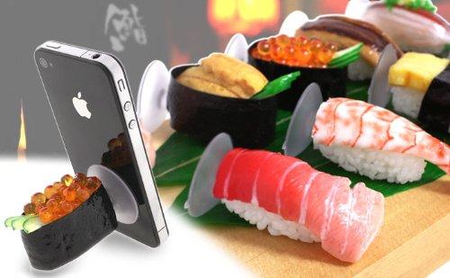 [各種スマートフォン対応]食品サンプルお寿司スタンド(イクラ)