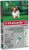BAYER 004BAY-04458455 K9 Advantix II for Small Dogs 0 - 10 lbs, Green - 4 Months