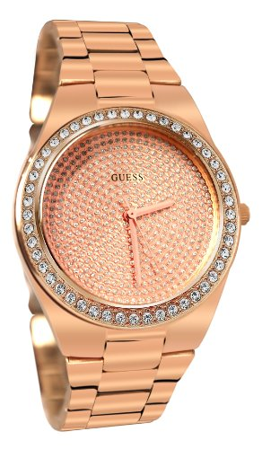 GUESS U11663L1 Sporty Radiance Watch, Rose Gold