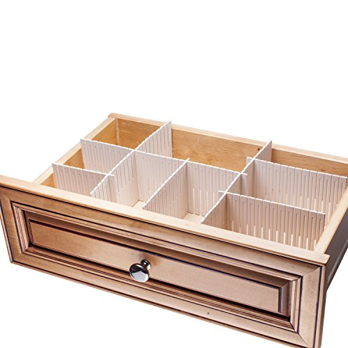 Sorbus customizable slotted plastic interlocking drawer for Kitchen drawer organizer
