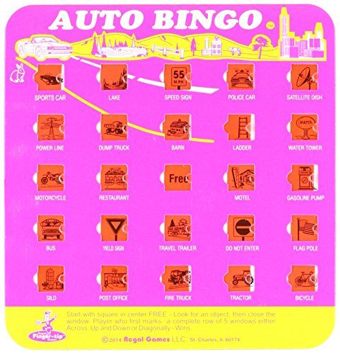 Regal Games The Original Travel Bingo Game Card (Travel Auto Bingo compare prices)