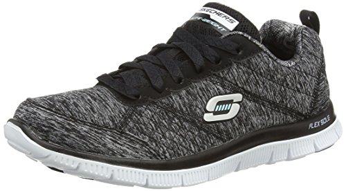 SkechersFlex Appeal Pretty City - Scarpe Running donna, Black - Schwarz (Bkw), 35