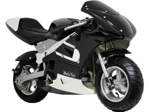 MotoTec Gas Pocket Bike - Black