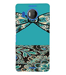 PrintVisa Ethnic Bow Pattern 3D Hard Polycarbonate Designer Back Case Cover for Nokia Lumia 950 XL