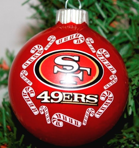 San Francisco 49ers NFL Traditional Round Glass Ornament