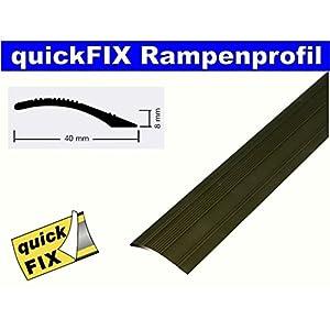 quickFIX Rampenprofil zum Kleben 100x4 cm in Alu bronze