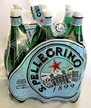 Sanpellegrino quotS Pellegrinoquot Sparkling Water  264 Pint 125cl Bottles Pack of 6   Italian Impor