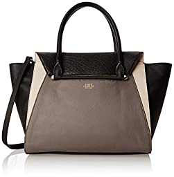 Vince Camuto Addy Satchel Shoulder Bag, Smoke/Black, One Size
