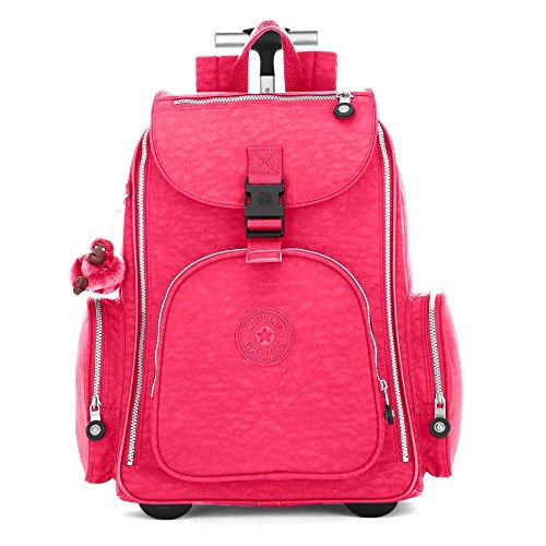 B00LFW91DY Kipling Alcatraz Wheeled Backpack (One size, Vibrant Pink)