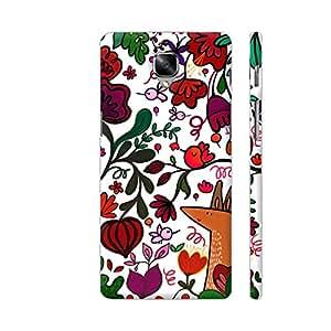 Colorpur Flowers Leaves Bees Multicolor Floral Artwork On OnePlus 3 Cover (Designer Mobile Back Case) | Artist: Woodle Doodle