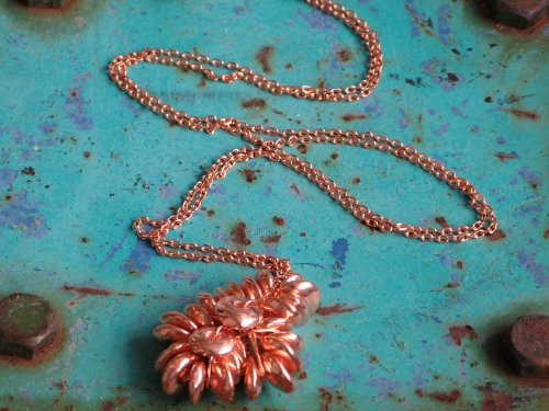 Long Fury Copper Cluster Necklace