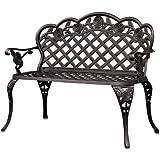 Best Choice Products® Patio Garden Bench Cast Aluminum Outdoor Garden Yard Solid Construction New
