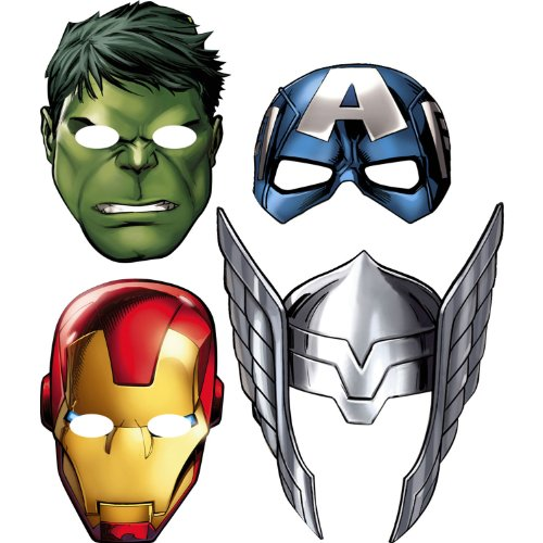 Avengers 'Assemble' Paper Masks (8ct)