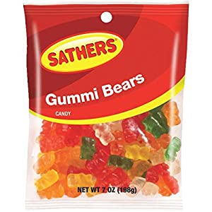 Farley's/Sathers Candy Co. 25017 Gummi Worms Candy Pack of 12