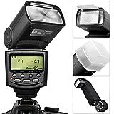 Altura Photo E-TTL Auto-Focus Dedicated Flash (AP-C1001) for Canon DSLR Cameras including Rebel EOS T3i T4i T5i T2i T1i SL1 20D 30D 40D 50D 60D 70D 5D 6D 7D - EOS 700D 650D 600D 550D 500D 100D + Flash Stand + Protective Pouch + Hard Diffuser + MagicFiber Microfiber Lens Cleaning Cloth