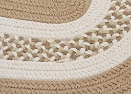 Braided Area Rug 2ft. x 4ft. Oval Cuban Sand Childrens/Nursery Carpet